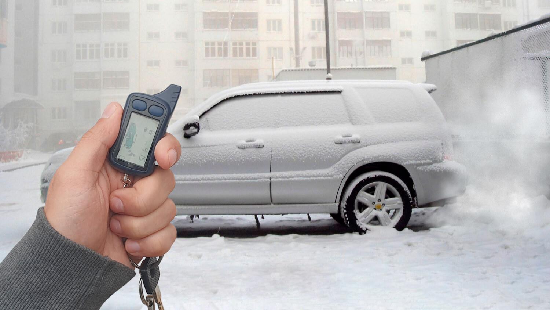 Машина в снегу и ключ от авто