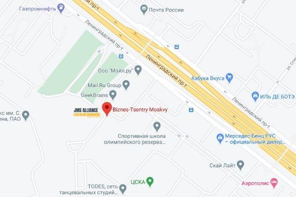 Карта проезда - jms-alliance.ru